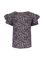 Bampidano Little Bampidano Girls fancy short sleeve T-shirt Doortje AO with ruffles FLOWER