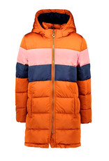 B-Nosy Girls long jacket with contrast chest parts, Camel