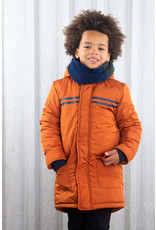 B-Nosy Boys long jackets with check fabric in hood, Camel