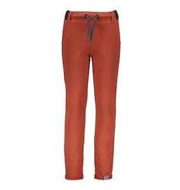 B-Nosy Boys sweat pants with folded hem, brique