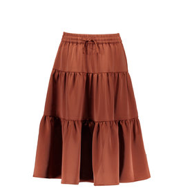 B-Nosy Gilrs maxi skirt with smocked wb, brique