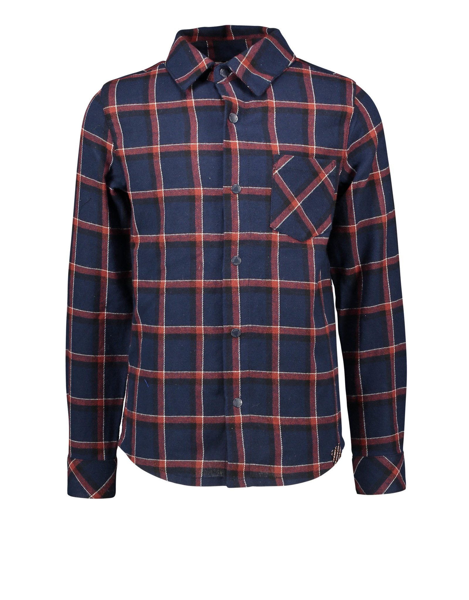 B-Nosy Boys big check woven shirt with patched pocket, clever check