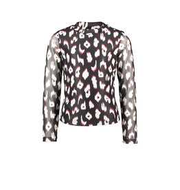 B-Nosy Girls turtle neck ls shirt with body lining, you leopard