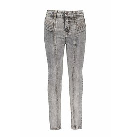B-Nosy Girls high waist denim with pleated details, you denim