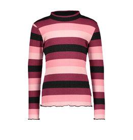 B-Nosy Girls knitted rib shirt, better rib stripe
