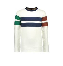 B-Nosy Boys sweater with colored stripes, Cotton