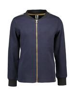 B-Nosy Boys jersey check shirt with zipper closure, clever black/blue check