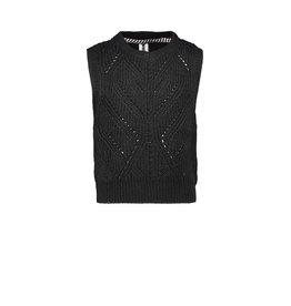 B-Nosy Girls heavy knitted spencer, Black