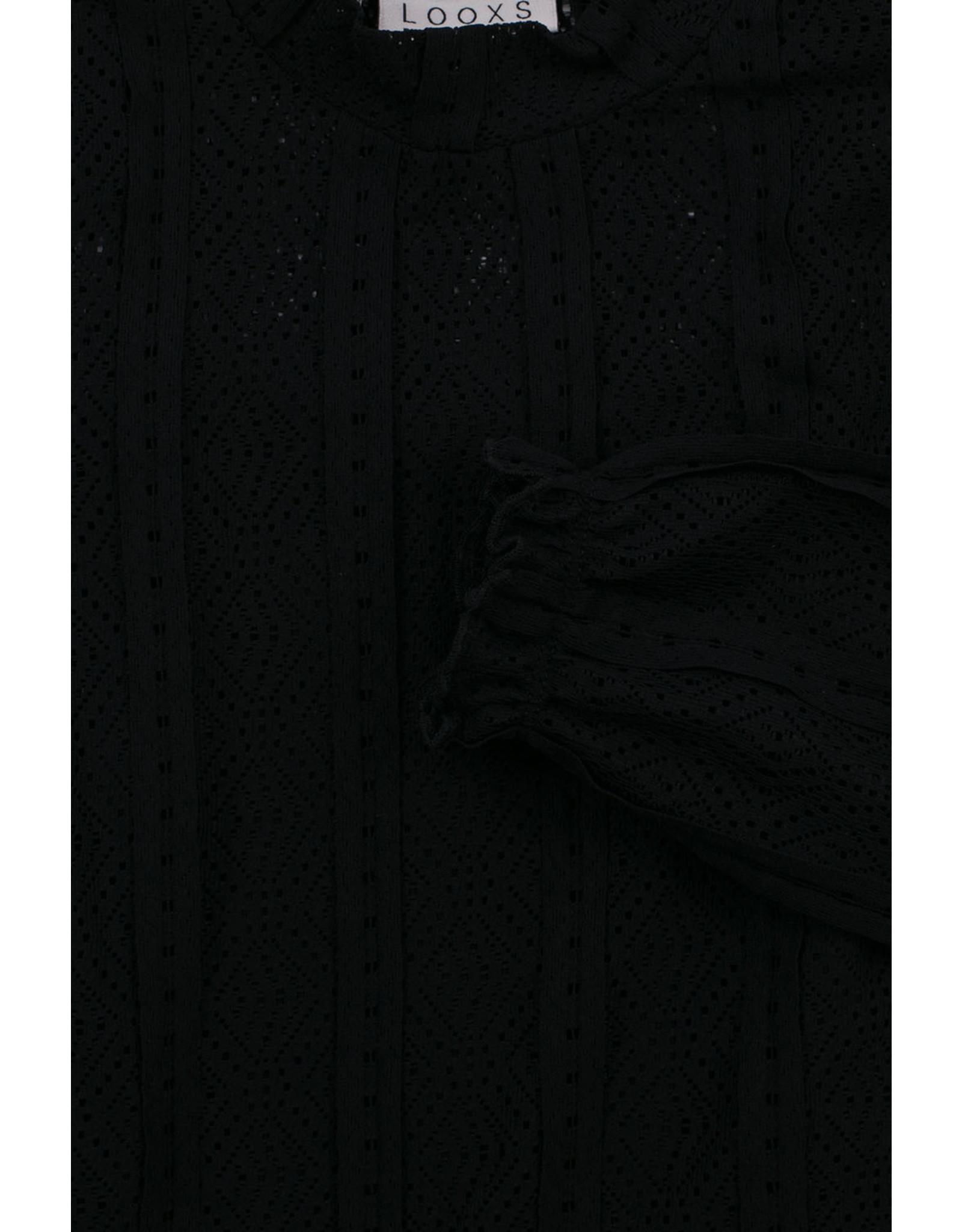 LOOXS 10sixteen 10Sixteen lace top, off black
