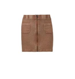 LOOXS 10sixteen 10Sixteen G.dyed twill jog skirt, Medium brown