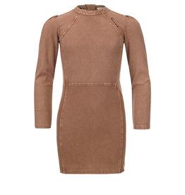 LOOXS 10sixteen 10Sixteen G.dyed twill jog dress, Medium brown