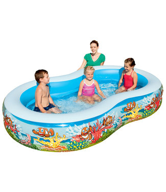 Groot kinderzwembad bestway 2-rings