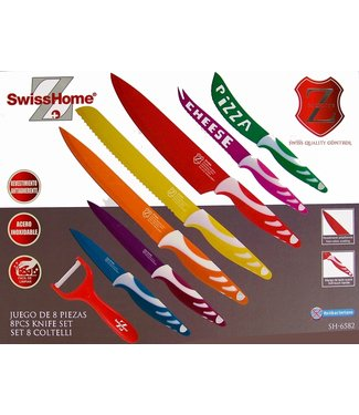 SwissHome Swiss Home RVS Messenset 8 delig