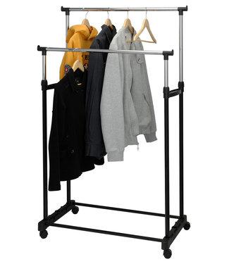 Storage Solutions Mobiel dubbel kledingrek - 86x42x170