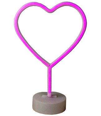 Gifts@Home Neon style lamp - hart - rood