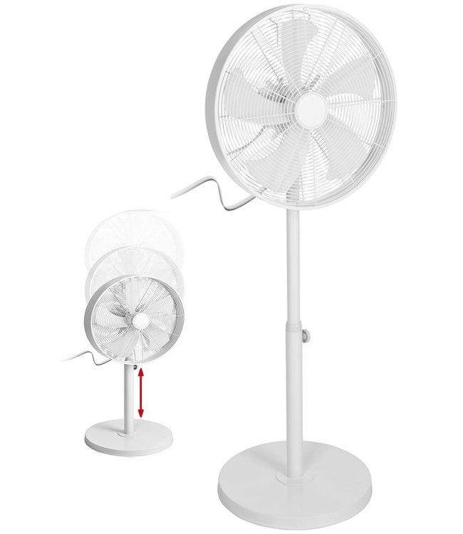 Excellent Electrics Statiefventilator - robuust en krachtig - wit