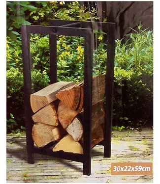 Ambiance Houtopslagstandaard - 30x22x59cm