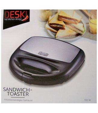 Deski Tosti-ijzer - Sandwichtoaster - zwart
