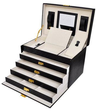 Déluxa Luxe sieradenbox met spiegel (30,5x19,5x20)