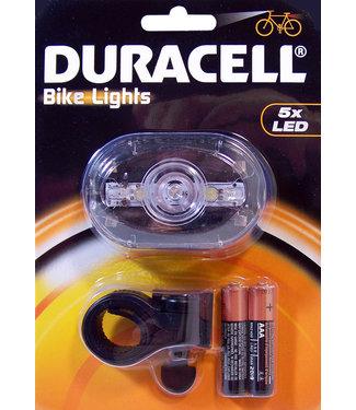 Duracell LED fietslamp (voorzijde) met batterijen