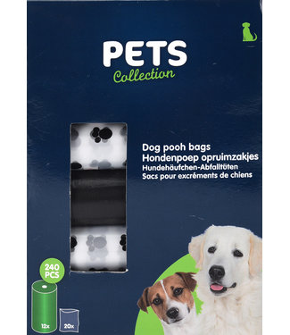 Pets Collection Hondenpoep opruimzakjes, 240 stuks