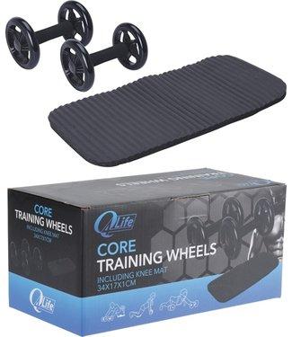 Q4Life Trainingswielen - 2 stuks - met kniematje
