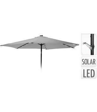 Ambiance Parasol met verlichting - 270cm - licht grijs