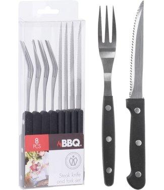 BBQ Barbecue bestekset - 8-delig