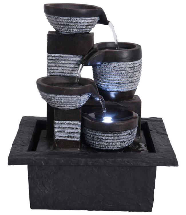 Waterfontein LED - modern I fontein met water I led waterfontein I