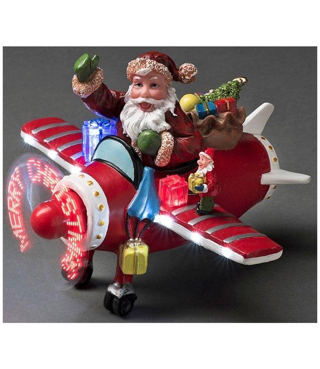 Kerstman in vliegtuig