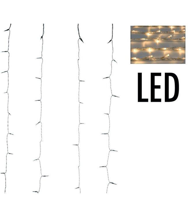 Gordijnverlichting - 220LED -  200x100cm - warm wit