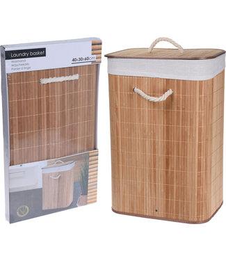 Opvouwbare wasmand gemaakt van bamboe