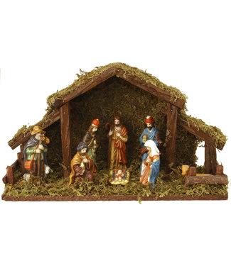Kerststal 8 figuren, met verlichting