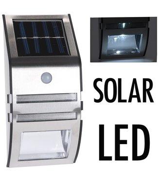 Solarlamp met bewegingsmelder - RVS