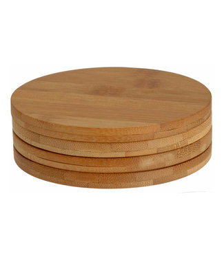 Excellent Houseware Moderne bamboe onderzetters