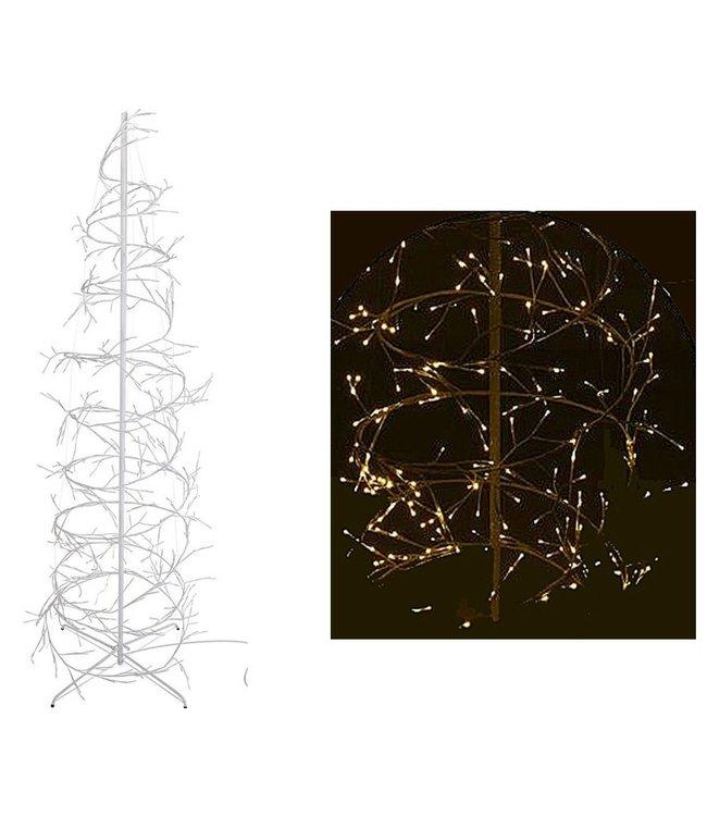 Kerstboom spiraal 150cm - 360 LED - wit