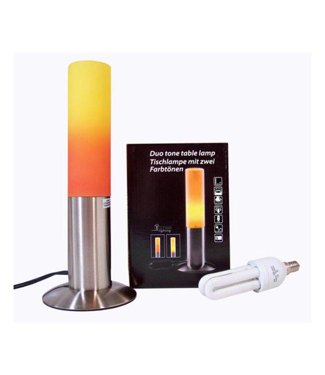 Roestvrijstalen tafellamp Duo Tone (27cm)