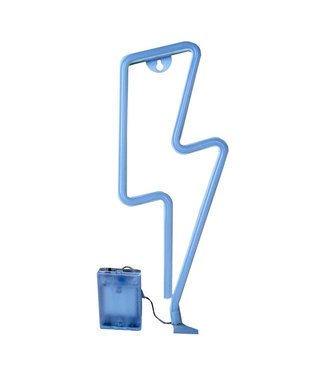 Gifts@Home Neon style lamp - bliksem- blauw