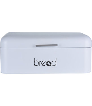 Broodtrommel met klep deksel wit
