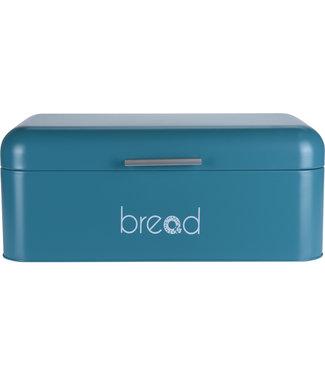 Broodtrommel met klep deksel blauw