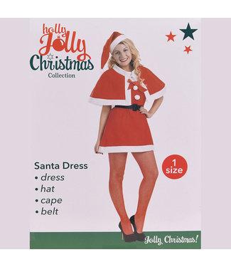 Kerstvrouw pak- 4-delig