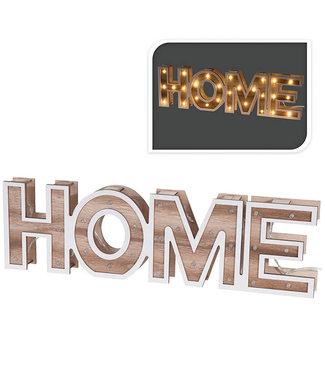 HOME - houten letters - 38cm - 28 LED