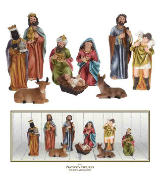 Kerststalfiguren 9-delig