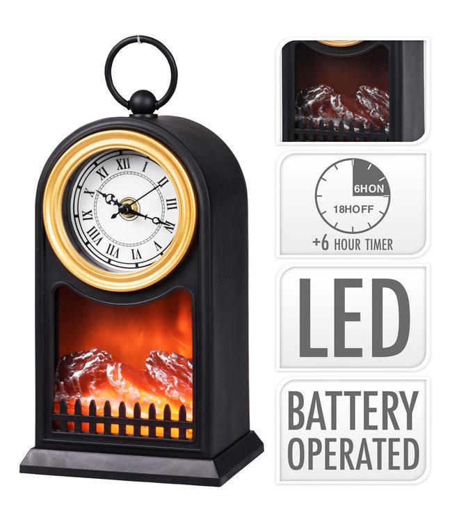 Sfeerlantaarn LED - met klok I Sfeerlataarn  I  Led sfeerlataarn I