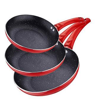 Renberg Koekenpannen set in de kleur rood
