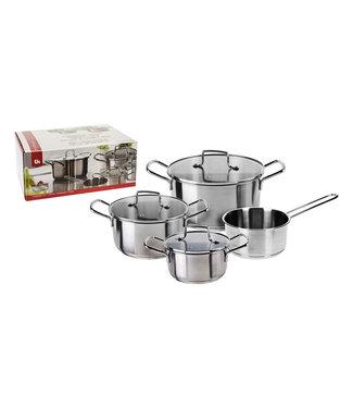 Excellent Houseware Pannenset Platinum RVS - 4-delig set
