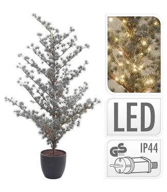 Kerstboom 125cm - met verlichting - in pot