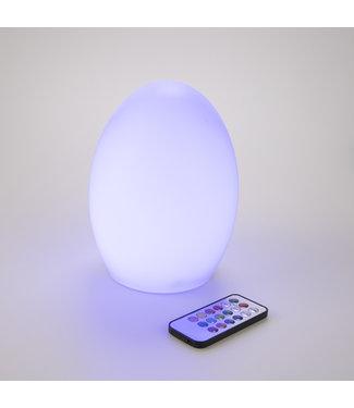 LED lamp eivormig - met afstandsbediening
