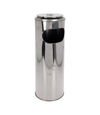 Staande Asbak met afvalbak - RVS - 20x59cm
