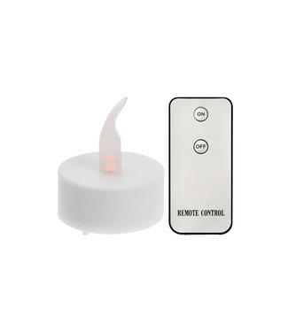 10 LED Theelichtjes met afstandsbediening